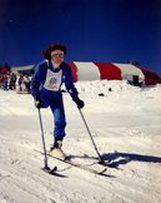 Glenda skiing